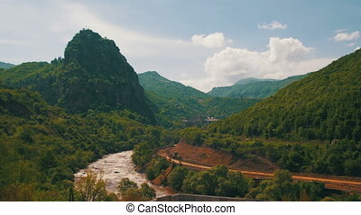 Landscapes of Mountains in Armenia. The Mountain River