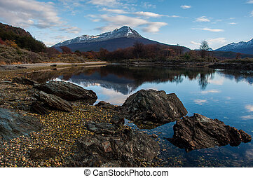 Landscapes of Tierra del Fuego, South Argentina.