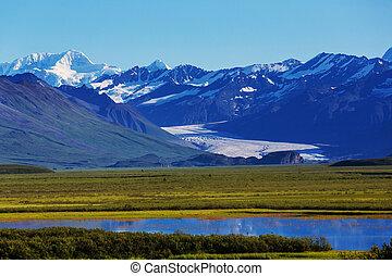 Denali highway - Landscapes on Denali highway. Alaska. ...