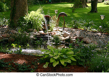 A beautiful little corner in this garden after some great landscaping work