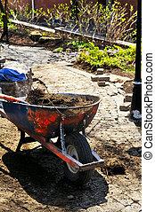 landscaping, travail, dans, progrès