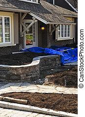 Landscaping work in progress