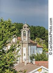 landschaft, ansicht, kirche
