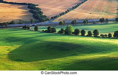 landschaft, ländlicher querformat