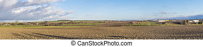landschaftlich, panorama, landschaftsbild, in, thüringen