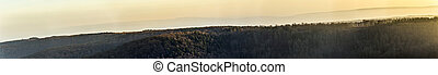 landschaftlich, panorama, von, wald, in, thüringen