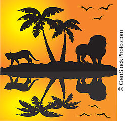 landschaftsbild, afrikanisch