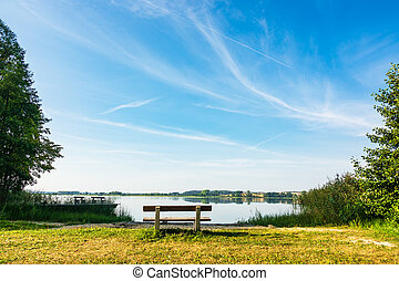 landschaftsbild, auf, a, see, in, potzlow, deutschland