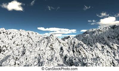 landschaftsbild, berg, schnee