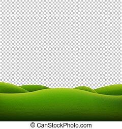 landschaftsbild, grün, freigestellt, hintergrund, durchsichtig
