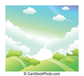 landschaftsbild, grün