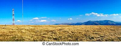 landschaftsbild, mit, antenne
