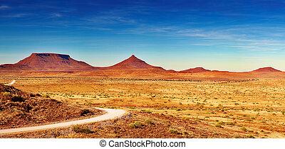 landschaftsbild, namibia, damaraland, afrikanisch