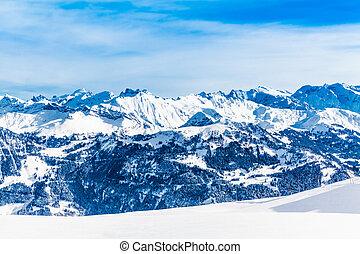 landschaftsbild, von, berg