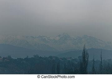 landschaftsbild, winter, berge