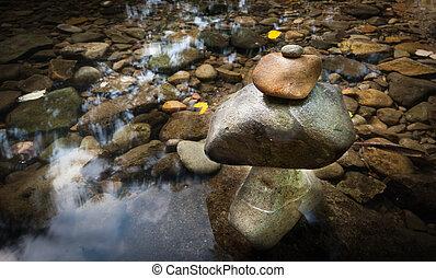 landschap., geestelijk, natuur, zen, environment., kalm, meditatie