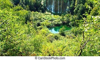 landschap, schilderachtig, nationaal park, meren, plitvice,...