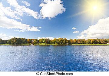 landschap., zonnig