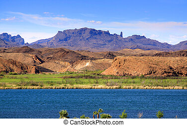 landskabelig, sø, havasu