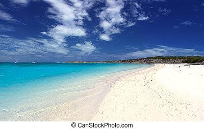landskabelig, strand
