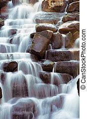 landskabelig, vandfald