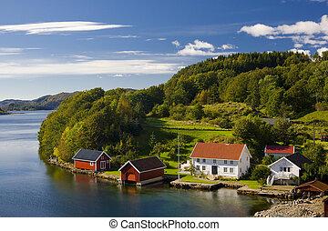 landskap, av, sydlig, norge