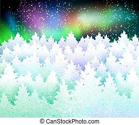 landskap, jul, bakgrund, vinter
