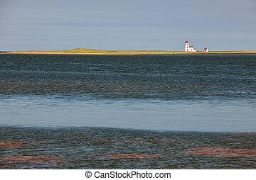 landskap, med, fyr, på, prins edward ö