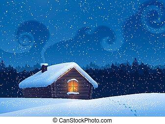 landskap., vinter