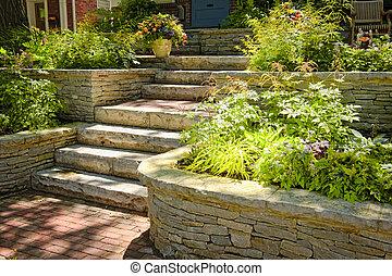 landskapsarkitektur, sten, naturlig