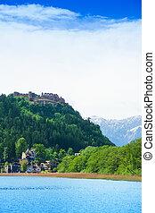 Landskron castle and lake