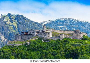 Landskron castle walls