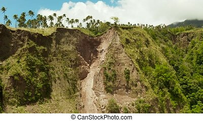Landslide in the mountains Camiguin, Philippines - Mountain...