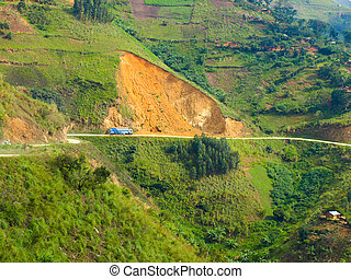 Landslides in african mountains