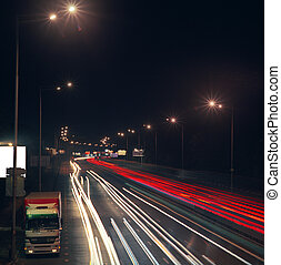 landstraße, an, night.