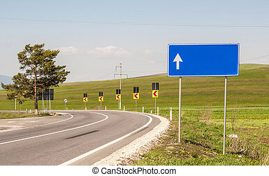 landstraße, in, a, ländliches gebiet