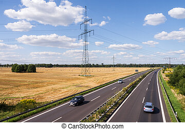 landstraße, landschaftsbild