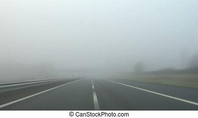 landstraße, nebel, 02
