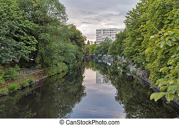 Landwehr canal in Berlin, Germany.