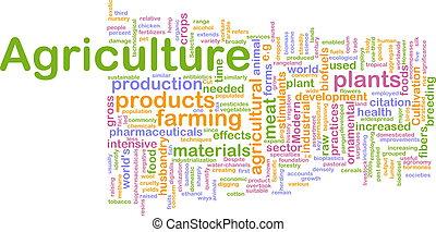 landwirtschaft, wort, wolke