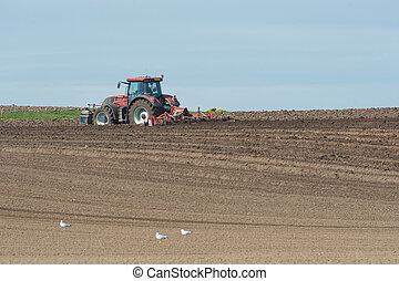 landwirtschaftlich,  land, Traktor, Pflügen