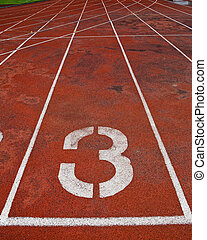Lane athletics track number 3.