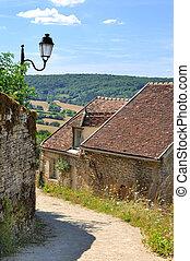 lane through a village