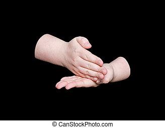 langage gestuel, mot, arrêt