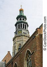 Middelburg - Lange Jan abbey tower in Middelburg, capital of...