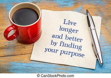 langer, beter, leven, doel, bevinding, jouw