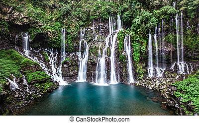 natural waterfall.