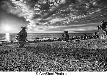 Langhammars at Faro island in the B