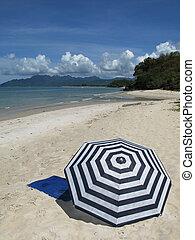 langkawi, 傘, 太陽, malyasia, 島, 浜, 砂