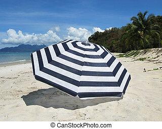 langkawi, 傘, 島, しまのある, 浜, 砂